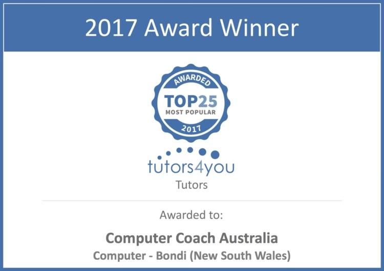 Computer Coach Eastern Suburbs Sydney